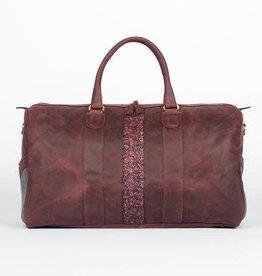 Monte & Coe Oxblood leather duffel