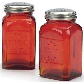RSVP RSVP 'Retro' S&P Shakers Red Glass 8 oz