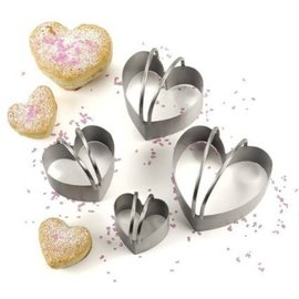 RSVP RSVP Heart Shape Biscuit Cutters Set of 4