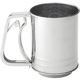 Harold Import Company Inc. HIC Sifter 3 Cup Squeeze Stainless Steel