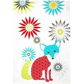 MUkitchen MUkitchen Designer Print Cotton Towel Fox SPECIAL BUY