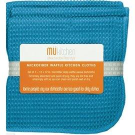 MUkitchen MUkitchen Dish Towel Set of 2 Waffle Microfiber Sea Blue
