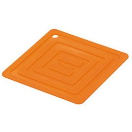 Lodge Cast Iron Lodge Silicone 6 inch Square Potholder Orange
