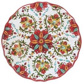 Le Cadeaux Le Cadeaux Allegra Red Salad Plate 9 in.