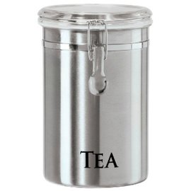 OGGI OGGI Stainless Steel Clamp Tea Canister with Tinted Lid