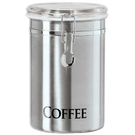 OGGI OGGI Stainless Steel Clamp Coffee Canister with Tinted Lid