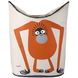 3 Sprouts 3 Sprouts Laundry Hamper Orangutan Orange