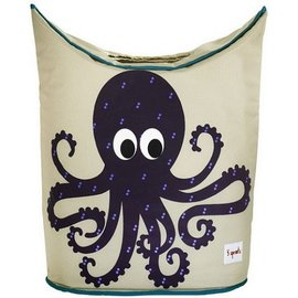 3 Sprouts 3 Sprouts Laundry Hamper Octopus Purple