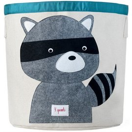 3 Sprouts 3 Sprouts Storage Bin Raccoon