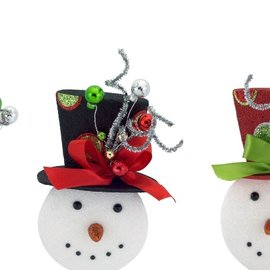 Melrose Melrose Snowman Ornament Assorted CLOSEOUT