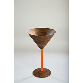 David Rasmussen David Rasmussen Martini Glass Orange Stem CLOSEOUT
