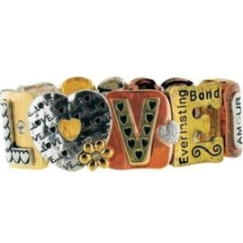 DM Merchandising Inc DM Merchandising Love Tri-Tone Bracelet