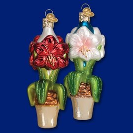 Old World Christmas OWC Amaryllis Ornament