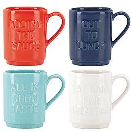 Kate Spade New York Kate Spade NY Stacking Mugs Words set of 4