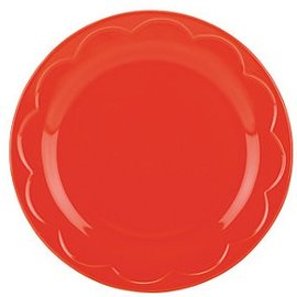 Kate Spade New York Kate Spade NY Accent Plate Sculpted Scallop Red