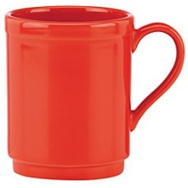 Kate Spade New York Kate Spade NY Mug Sculpted Scallop Red