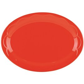 Kate Spade New York Kate Spade NY Platter 14 inch Sculpted Scallop Red