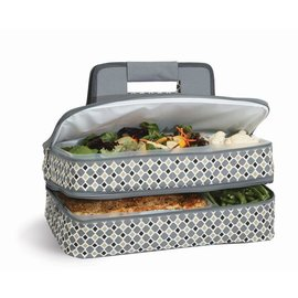 Oak & Olive (formerly Picnic Plus) Oak & Olive Entertainer Expandable Hot & Cold Food Carrier Mosaic