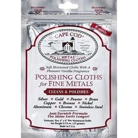 Cape Cod Polish Cape Cod Polish Polishing Cloth for Fine Metals Foil Pouch