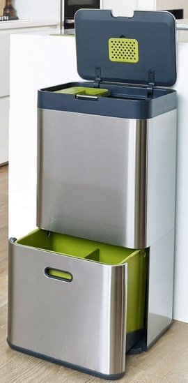 Joseph Joseph Joseph Joseph Totem 60 Stainless Steel Trash Can