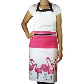 MUkitchen MuKitchen Designer Print Apron Flamingo SPECIAL BUY
