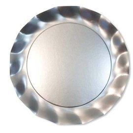 Sophistiplate Sophistiplate Petalo Charger Plates Satin Silver