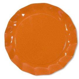 Sophistiplate Sophistiplate Petalo Charger Plates Orange