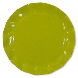Sophistiplate Sophistiplate Petalo Charger Plates Lime Green
