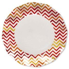 Sophistiplate Sophistiplate Petalo Atmosfera Dinner Plates Chevron Red