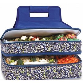 Oak & Olive (formerly Picnic Plus) Oak & Olive Entertainer Expandable Hot & Cold Food Carrier English Paisley April Cornell