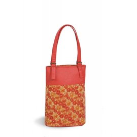 Oak & Olive (formerly Picnic Plus) Oak and Olive Double Bottle Wine Tote Floral Cork