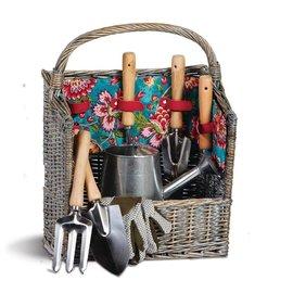 Oak & Olive (formerly Picnic Plus) Oak & Olive Countryside Garden Basket Madeline Turquoise.