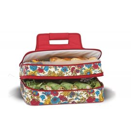 Oak & Olive (formerly Picnic Plus) Oak & Olive Entertainer Expandable Hot & Cold Food Carrier Floribunda.