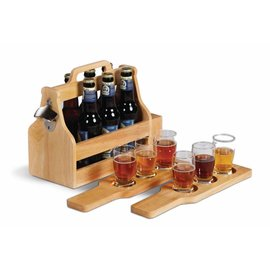 Oak & Olive (formerly Picnic Plus) Oak & Olive Brew Fest 6 Pack Holder Wood.