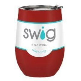 Swig Swig Wine Cup Crimson 9 oz