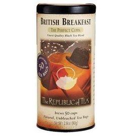 Republic of Tea The Republic of Tea British Breakfast Black Tea Round Bags 50 Serving Tin