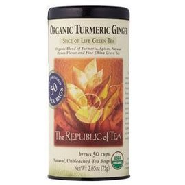 Republic of Tea The Republic of Tea Organic Turmeric Ginger Tea Round Bags 50 Serving Tin