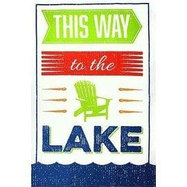 MUkitchen MuKitchen Cotton Dish Towel To the Lake CLOSEOUT