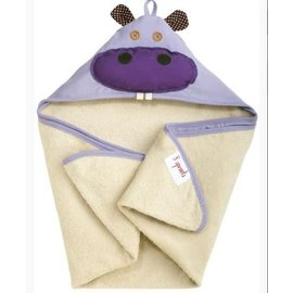 3 Sprouts 3 Sprouts Hooded Towel Hippo