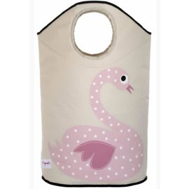 3 Sprouts 3 Sprouts Laundry Hamper Swan Pink