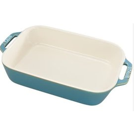 Staub Staub Ceramic Rectangular Baking Dish 10.5 x 7.5 in Rustic Turquoise