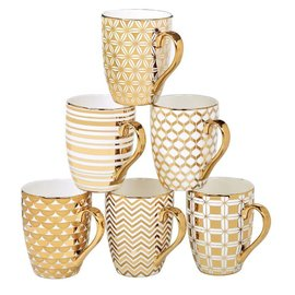 Certified International Certified International Elegance Gold Plated Tapered Mug 16 ounces Assorted Styles SOLD INDIVIDUALLY