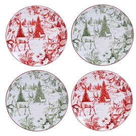 Certified International Certified International Winter Field Notes Toile Dessert Plate 9 inch Assorted
