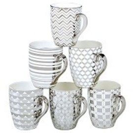 Certified International Certified International Elegance Silver Plated Tapered Mug 16 ounces Assorted Single