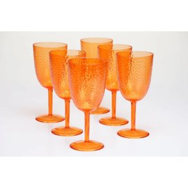 Certified International Certified International Orange Hammered Acrylic All Purpose Goblet 16 ounces