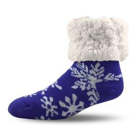 PUDUS PUDUS Classic Slipper Socks Snowflake Purple