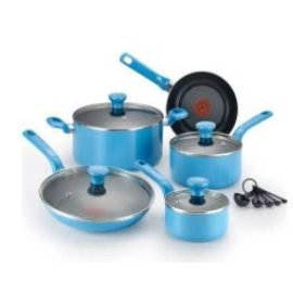 T-Fal T-Fal Excite 14 pc Cookware Set Turquoise