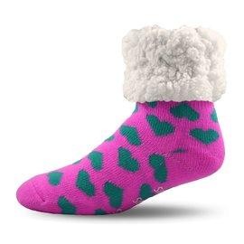 PUDUS PUDUS Classic Slipper Socks Hearts Pink