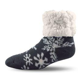 PUDUS PUDUS Classic Slipper Socks Snowflake Grey