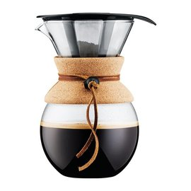 Bodum Bodum Pour Over Coffee Maker with Permanent Filter & Cork Band 34 oz